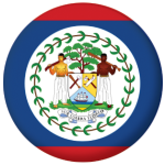 Belize Country Flag 58mm Mirror Keyring